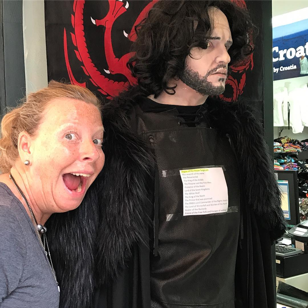 I ran into Jon Snow in Croatia! #gameofthrones