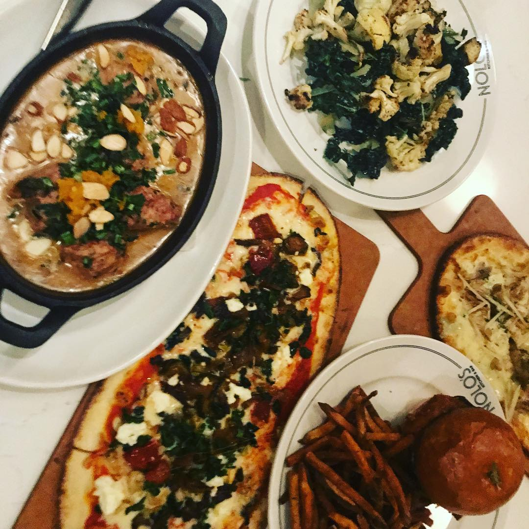 Some great chow at @noloskitchen last night. Best fish sandwich in town, wonderful turkey meatballs with an awesome gravy, flatbreads and a kale Caesar salad. Who know that their @basementbarmpls has Drag bingo on Wednesday nights? Fun! #weeklydish #stephaniesdish #bingo #fishsandwich #northloop #northloopmpls