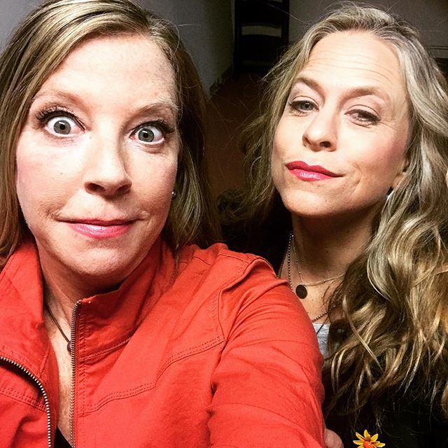 New radio picture photo shoot. At the end it got a little silly. Here is my perfect Nora Desmond or Carol Burnett face while Stephanie looks all cute! ?  #photoshoot  #headshotsthathaunt  #headshots  #weeklydish  #weeklydishmn  #stephaniesdish #stephmarch #mytalk1071