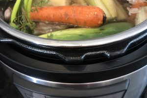 Instant Pot Chicken Broth Recipe | Stephanie's Dish | Stephanie Hansen