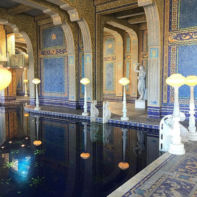 The indoor pool @hearstcastleshm what a place! It is a gigantic home with opullance like you see in European castles surrounded by an operating grass fed beef cattle ranch. Loved being there on election day! He was a businessman, politician and built the largest newspaper chain. I have loved journalism and newspapers all my life so it seemed fitting to be there on election day when I feel like journalists are being vilified. . . . #democracy #hearstcastle #williamrandolphhearst #freepress #stephaniesdish #weeklydish #highway1 #sansimeon #california #californiaadventure #vanlife