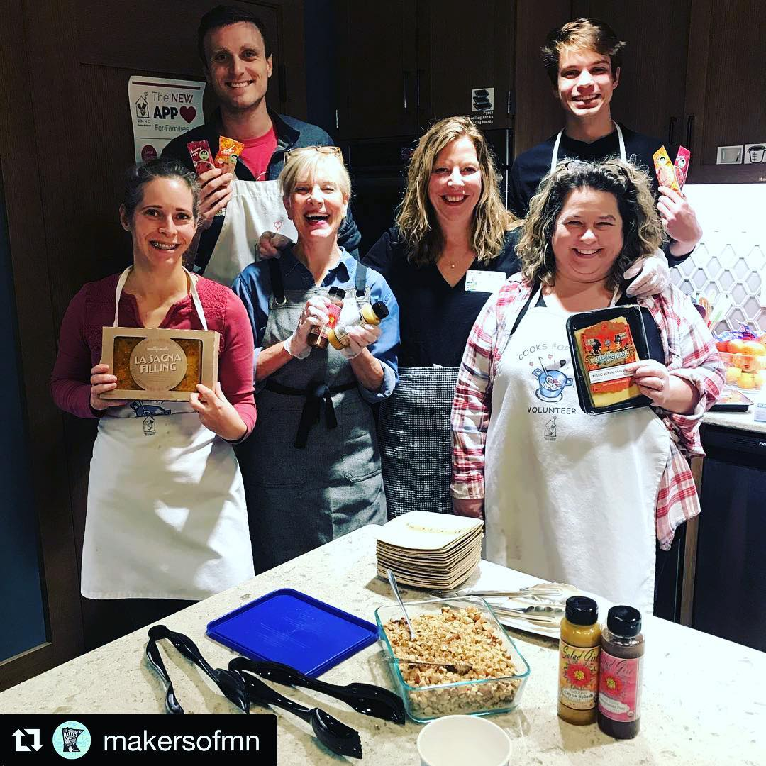#Repost @makersofmn ・・・ Local @makersofmn donating their time and product to feed families @rmhc.um tonight. Families at Ronald McDonald House really appreciate nutritious meals when they are caring for their loved ones at the hospital.  Thank you to @thesaladgirl @dumplingandstrand @jonnypops and @mostlymade who organized us all for this fun night of helping others . . . . #volunteering #ronaldmcdonaldhouse #ronaldmcdonaldhousecharities #makersofmn #mnmade #madeinmn #local #minnesotamade #minnesota #minneapolis #podcast #podcaster #podcasting #podcastersofinstagram #podcasters  #MadeHere #MNMade #LocallyGrown #shoplocal