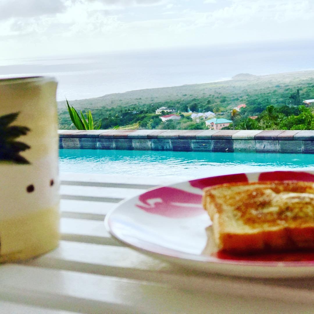 #toadinthehole with coffee and a side of the Carribean beach in #nevis #scagetaway . . . #stephaniesdish #weeklydish #weeklydishmn #stephmarch