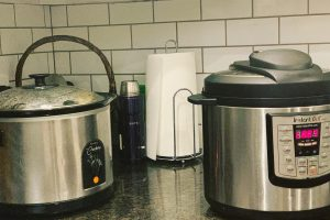 Slow-Cooker and Instant Pot on a countertop | Stephanie's Dish | Stephanie Hansen