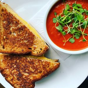 Tomato Soup and Grilled Cheese at Parallel