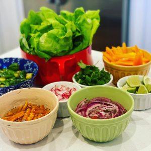 Ingredients for Quick Pork Lettuce Wraps recipe | Stephanie's Dish | Stephanie Hansen
