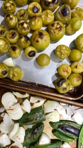 Tomatillos and Peppers For Green Salsa