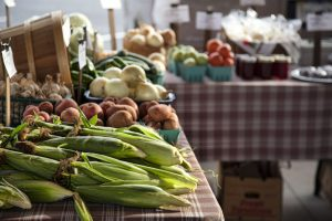 Farmers Market Corn and Vegetables