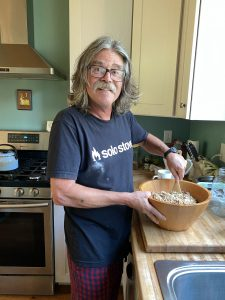 Mixing Homemade Granola