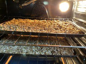 Homemade Granola Baking